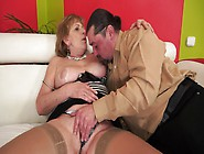 A Fat Old Lady Gets Her Nasty Pussy Fucked Ha...