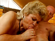 Bootylicious Fat Blond Mature Whore In Stocki...