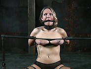 Hotty Is Tied Upside Down With Her Fur Pie Th...