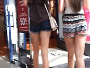 Candid Teen Pawg Walking In Mall