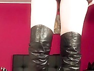 Trampling And Sounding With High Heel Boots