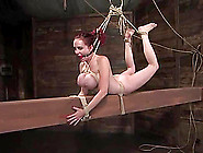 Mz Berlin The Bound Redhead Slut Gets Her Tit...
