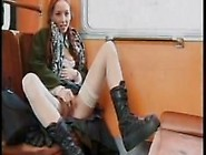 Redhead Meet And Fuck - Sex In The Train