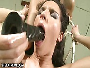 Forced To Suck Large Dildo Pleases This Domin...