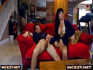 Mom Jerks Son While Watchin Porn Together