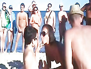 Great Public Orgy At The Beach Of Spain