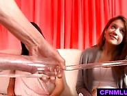 Girls Measure Dick In Penis Pump During Cfnm ...