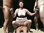 Horny Mature Trollop Takes On Three Hard Cock...