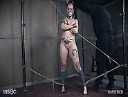 Chubby Tattooed Babe Gt Tied Up Tight And For...