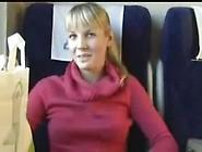 Euro College Girl Sucking Cock In Train Publi...