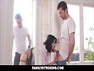Step Mom Amber Chase Gets Stuck Both Sons Hel...