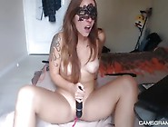 Excited Tattooed Enjoys Her Amazing Sex Toy