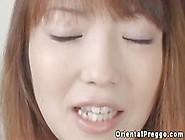 Pregnant Asian Babe Swallows Some Cum