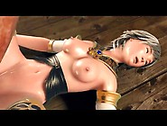 Beautiful 3D Girl Played With By Monster