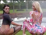 Two Hotties With Painted Bodies Having A Nice...