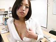 Japanese Office Panty Tease