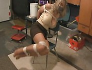 Shellie Duct Tape Gagged And Struggilng