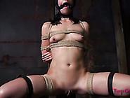 Nasty Bdsm Sex Video With Snotting Elise Grav...