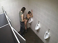 Lusty Girl Banged In The Men's Room!