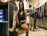 Teen Flashing In Mall