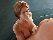 Eve Laurence Lets Her Tits Flop Out As She Gi...