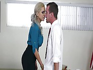 A Blonde Milf With A Sexy Ass Is Giving A Blo...