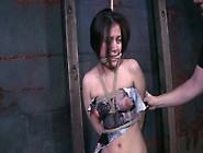 Chick With Bare Nipples Is Punished In The Du...