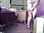 Horny,  Elderly Couple Is Fucking In The Offi...