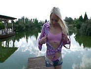 Dirty Whore Lola Taylor Takes Part In Outdoor...
