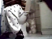 Hid Cam Catches Girl Taking A Dump
