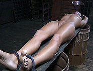 Stretched White Filthy Skank Tortured With Sh...