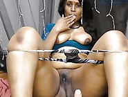 Curvy Indian Lady Shows Her Stuff And Toys He...