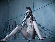 Painful Punishment For Small Tittied Brunet P...
