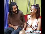 Pregnant Redhead Ebony Fucks Before Giving Bi...