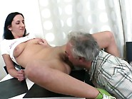 Delightsome Young Chick Takes Old Nasty Cock ...
