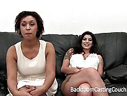 Curvy Casting Girls Both Bent Over His Desk A...
