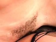 Tattooed Babe In A Corset Licks Curvy Brunett...