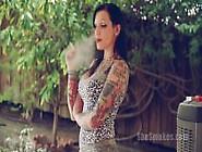 Rock Chick Smoking