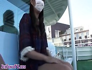 Asian Cutie Pulls Upskirt