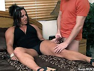 Muscle Mommy Jerks Off Son