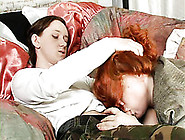 Redhead Busty Horny Woman Loves Sucking Small...