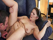 A Granny With A Big Ass Is Sucking A Cock And...