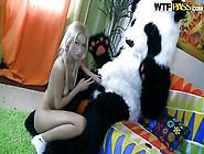 Panda And His Blonde Russian Girl