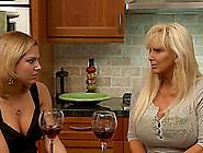 Mature Big Boobed Lesbian Seduces The Hot Gir...