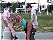Very Cute Young Girl Risky Public Gangbang Th...