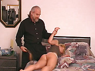 Pretty Blondie Gets Her Pussy Spanked Early I...
