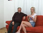 Young Babe Enjoys Old Ramrod In Throat And Pu...