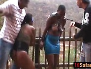 Crazy Guys Tie And Abuse Cute African Chicks ...