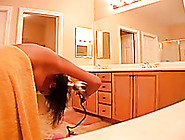 Naked Teen Babe Dries Her Hair And Her Towel ...