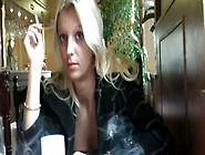 Sultry Czech Slut Wanks In Chinese Restaurant